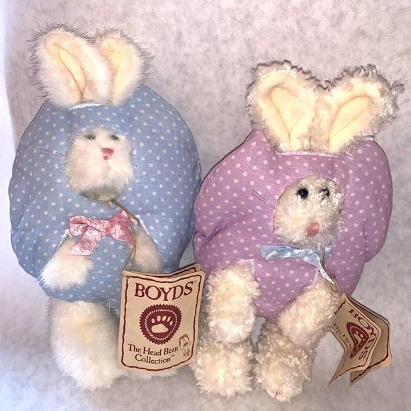 Boyd's Bear Easter bunny set (Hip & Hop)